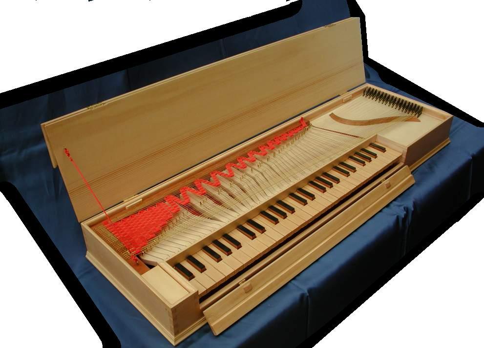 Un clavicordo, o clavicordio